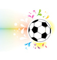 Football attributes on the wall vector image vector image