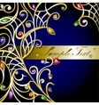 gold jewerly background vector image vector image