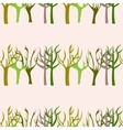 Hand Drawn Trees Seamless Pattern vector image vector image