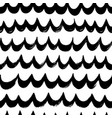 hand drawn wavy lines seamless pattern vector image