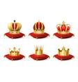 heraldic crowns set vector image vector image