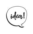 idea lettering vector image