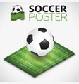 isometric soccer field and ball vector image