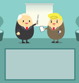 Job present boss time vector image vector image
