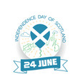 june independence day of scotland vector image