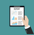man with analyzes report paper document with vector image vector image