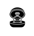 marriage ceremony black icon sign on vector image