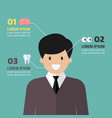 medical infographic with man character vector image vector image