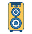 music speaker isolated vector image vector image