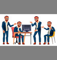 office worker emotions gestures turkish vector image vector image