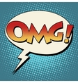 OMG surprise comic bubble retro text vector image vector image