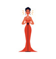 opera or jazz concert female singer flat vector image