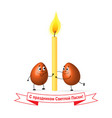 orthodox easter red eggs candle vector image vector image
