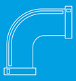 pipe icon outline style vector image vector image