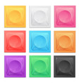 realistic 3d detailed color condoms package set vector image