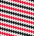 Red Black and white diagonal chevron seamless vector image vector image