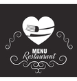 restaurant menu food design vector image vector image