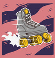 roller skating design with a classic model roller vector image vector image