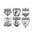 set of football championship vector image