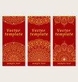 set of templates for your design indian vector image