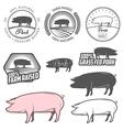set pork labels badges and design elements vector image vector image