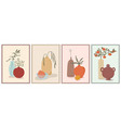set wall art paintings still life composition vector image