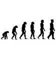 silhouette progress man evolution vector image vector image