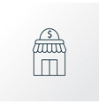small business icon line symbol premium quality vector image