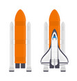 space rocket with shuttle vector image