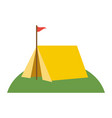 tent on grass icon image vector image vector image