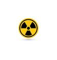 toxic icon radiation pictograph biohazard vector image