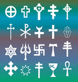 various religious symbols vector image vector image