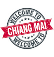 welcome to Chiang mai red round vintage stamp vector image vector image