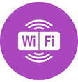wifi sign vector image vector image