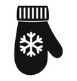 winter glove icon simple style vector image vector image