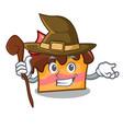 witch sponge cake mascot cartoon vector image vector image