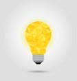 yellow idea bulb vector image vector image