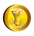 yen money gold icon vector image vector image