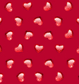 Ruby Gem Hearts Seamless Pattern vector image