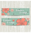 Banners With Orange Flowers vector image