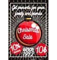 Color vintage Christmas sale poster vector image
