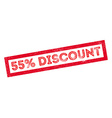 55 percent discount rubber stamp vector image