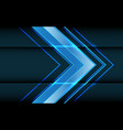 abstract blue light arrow direction on dark vector image vector image