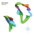Abstract color map of Moldova vector image vector image