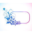 abstract colorful floral frame vector image vector image