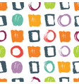 abstract pattern with circles and squares vector image