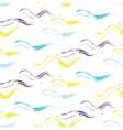Acrylic paint wave strokes seamless pattern vector image vector image