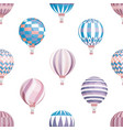 air balloons seamless pattern flying vector image