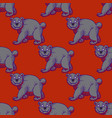 amazing bear seamless pattern vector image