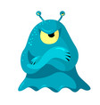 angry slug monster or alien with one big and two vector image